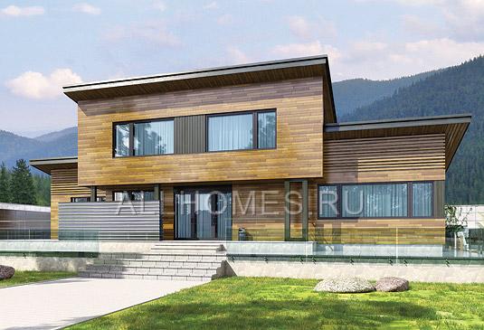 Проекты современных загородных домов и коттеджей